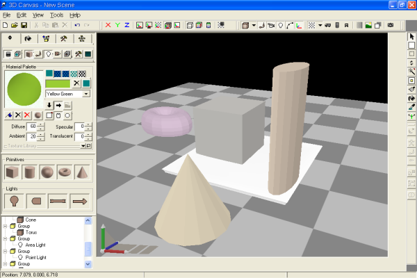 3D Canvas screenshot - Topfreeware.net