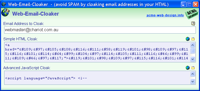 Web Email Cloaker